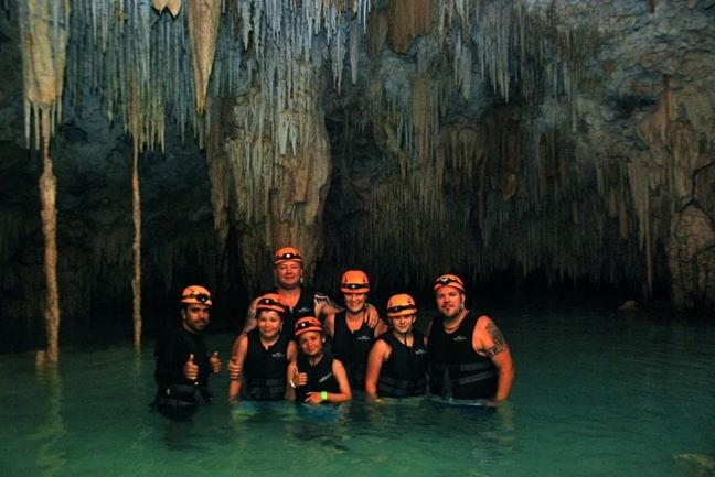 Group Photo Inside the Rio Secreto Cavern