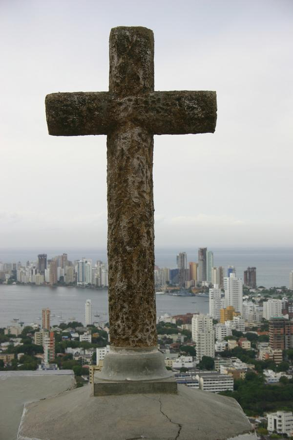 Views of Cartagena Bay from Convento de la Popa