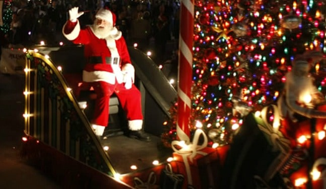 Atlanta Christmas Things to See-Stone Mountain Christmas Parade Santa