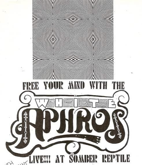 White Aphros Concert Flyer Circa 1993