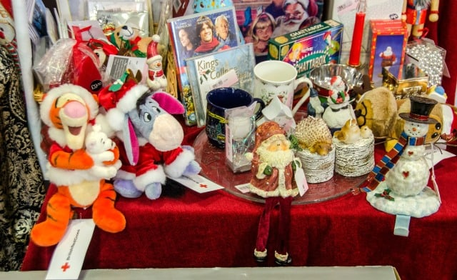 Trading or donating Christmas goods to a secondhand charity shop on the Isle of Wight Photo Anne Sterck