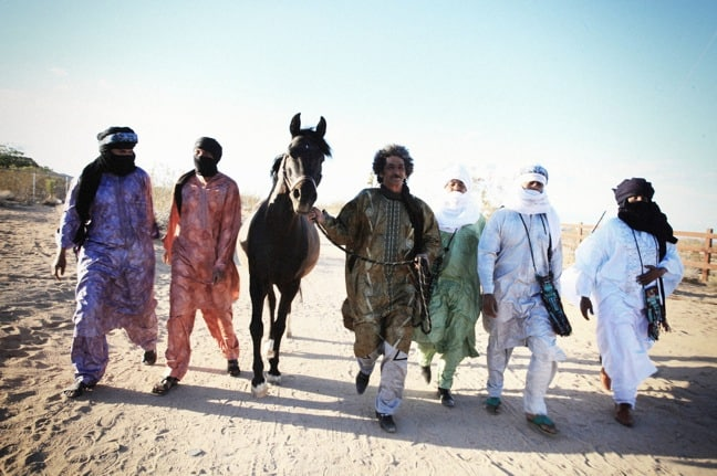 Tinariwen with horses