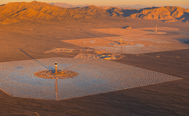 Ivanpah Solar Thermal Energy Project Nevada