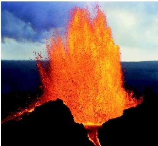Volcanoe Exploding