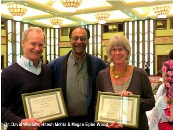 Megan Epler Wood Receiving Her Lifetime Achievement Award in Kenya, 2013