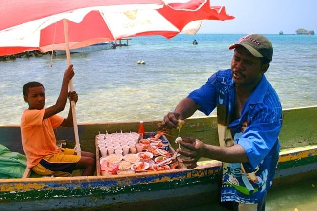Lobsterman en las Islas del Rosario, Colombia