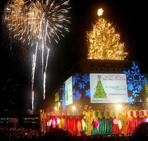Macy's Tree Lighting Atlanta