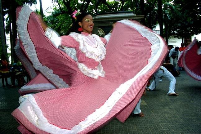 Bailarines Mapalé en Cartagena, Colombia