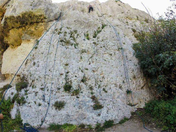 Margherita climbing