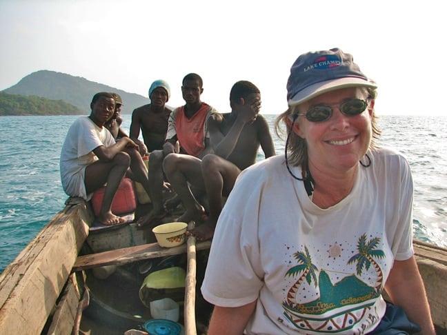 Megan Epler Wood With Locals in Sierra Leone, 2005