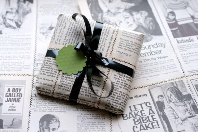 Optional wrapping - using old newspapers Photo Tracy via Flickr cc