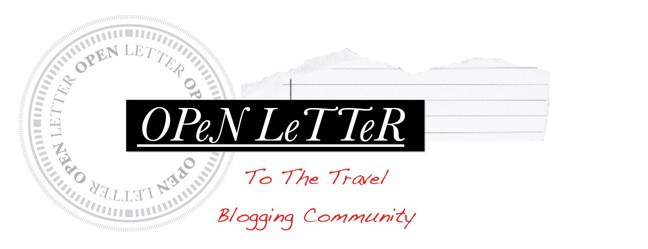 Open Letter to Travel Blogging Community