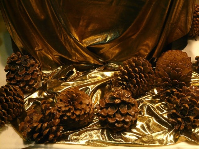 Pine cones, one of many natural Christmas ornaments available for the picking Photo public domain
