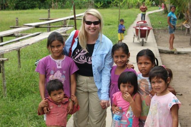 Hanging with Ribereños children in Nueva York village, Peruvian Amazon