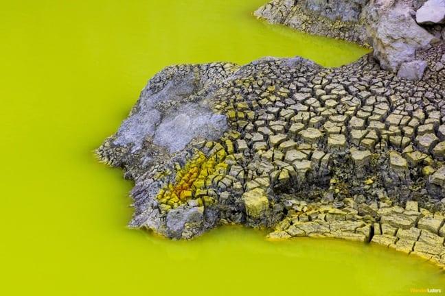 Close up of Devil's Bath, New Zealand