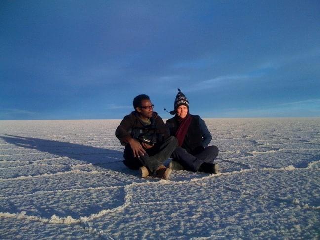 Gringo Trails Director Pegi Vail & Co-Producer Melvin Estrella in Bolivia