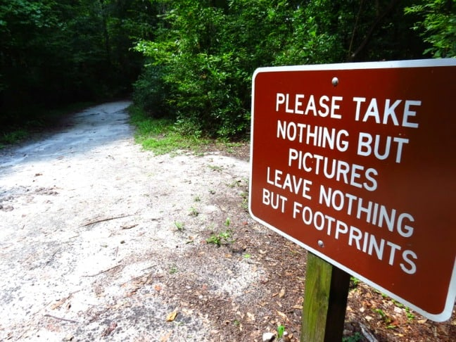 take nothing but pictures leave nothing but footprints