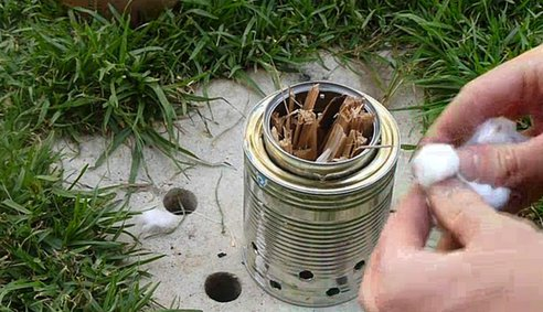 GO GREEN TIP #85: Homemade Camping Equipment (DIY Camping Stove)